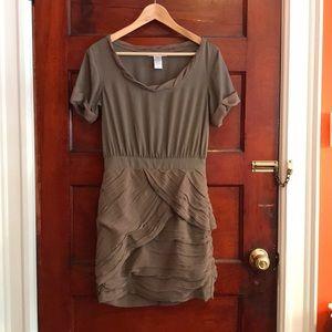 Diane von Furstenberg tan silk party dress